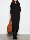 Solid Basic Shift Paneled Casual Dress