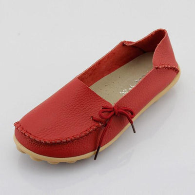 Full Grain Leather Moccasins Mother Loafers Flats