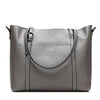 Soft Genuine Leather Solid Shoulder Handbag For Woman