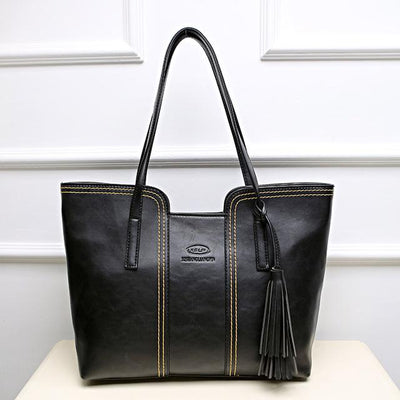 Big Leather  Crossbody Woman Handbags With Tassel
