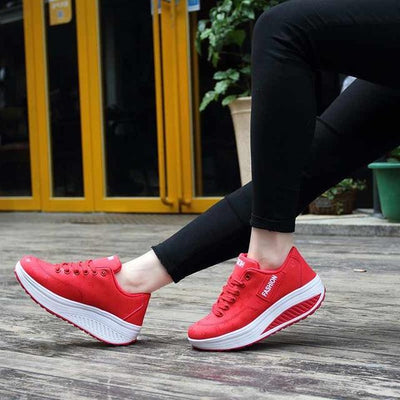 FULLINO Korean Words Woman Sport Casual Shoes