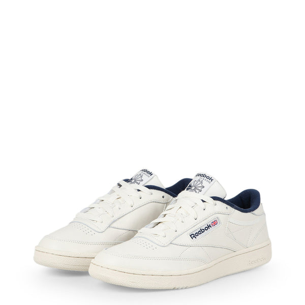 Chaussures blanches sneakers homme Reebok - CLUB-C85-MU