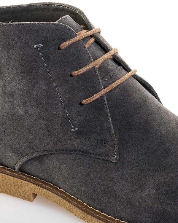 Chaussure homme boots grise effet daim