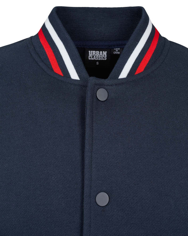 Veste teddy sweat bleu navy