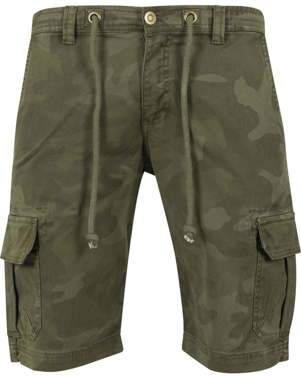Short cargo camouflage kaki stretch