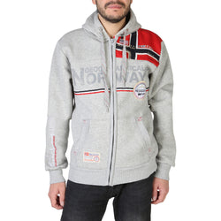 Sweat zippé gris clair Geographical Norway - Faponie100BS_man