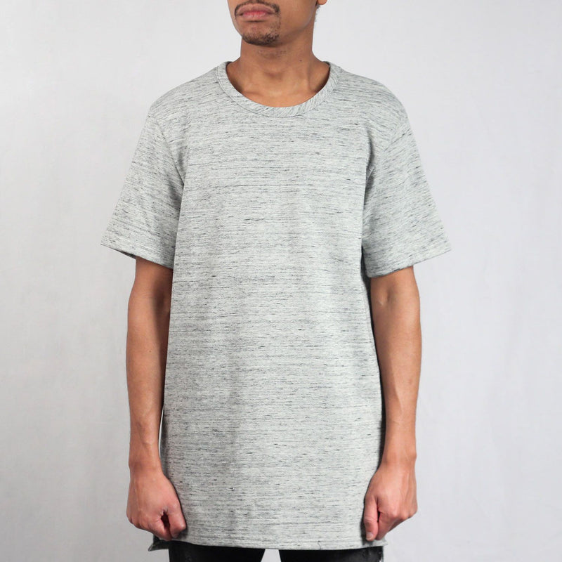 Marled Terry Split Hem Tall Tee