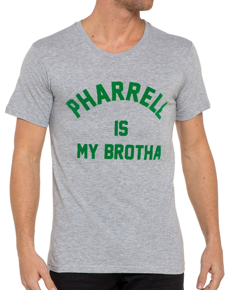 Tee shirt FAREL gris clair à col rond Pharell is my brotha