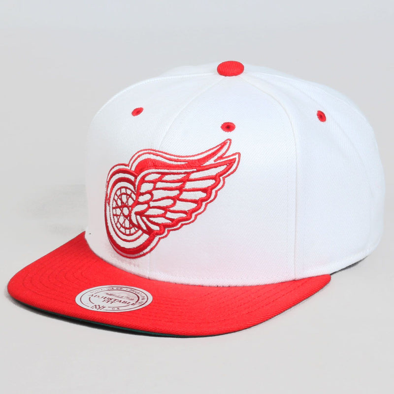 XL White 2 Tone Red Wings Cap