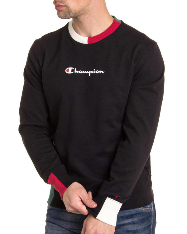 Sweat à col rond multicolore Champion 212788 noir