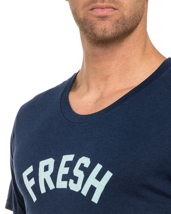 T shirt FAFRESH bleu navy à manches courtes Fresh WILL