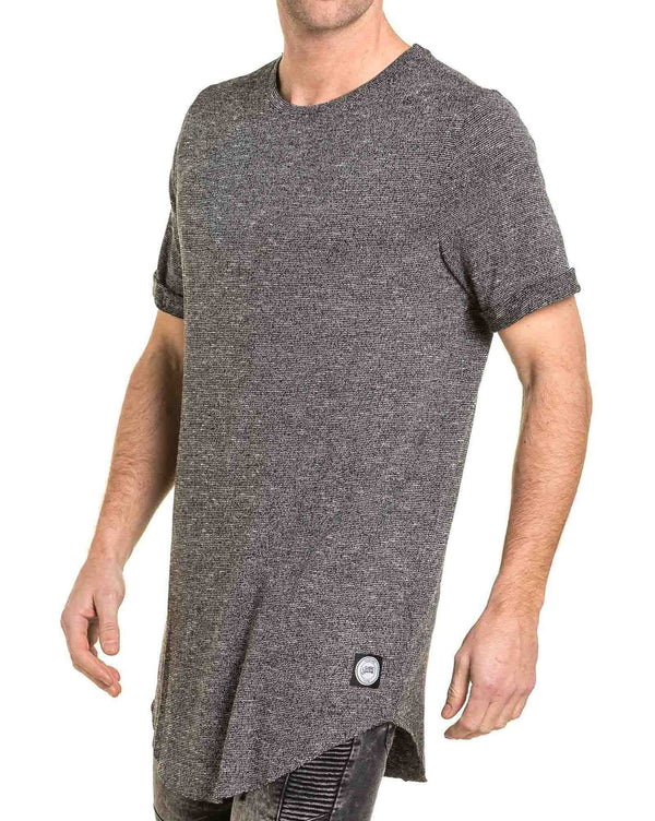 Tee-shirt homme gris chiné oversize