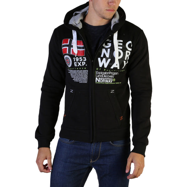 Sweat à capuche noir Geographical Norway - Gasado_man