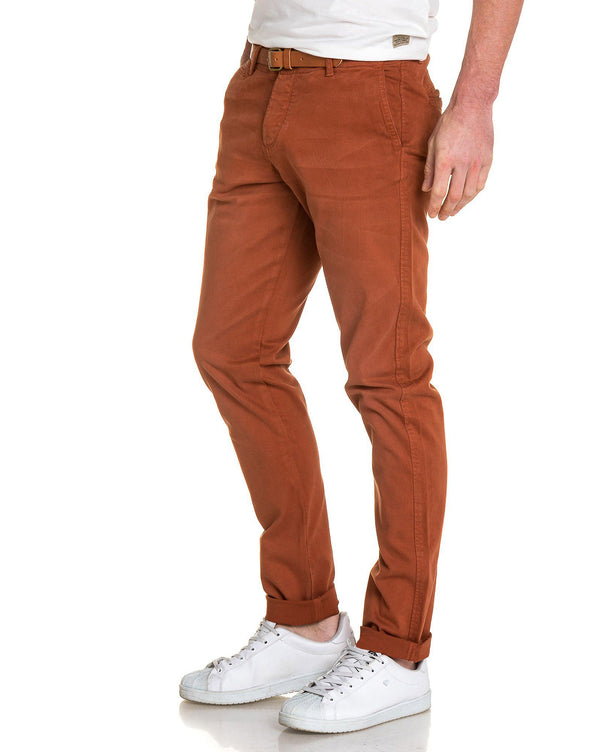 Pantalon chino homme rouille regular