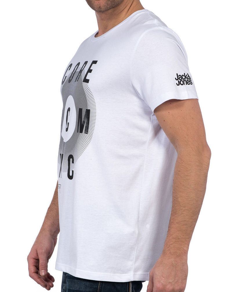 Tee-shirt blanc oversize graphique