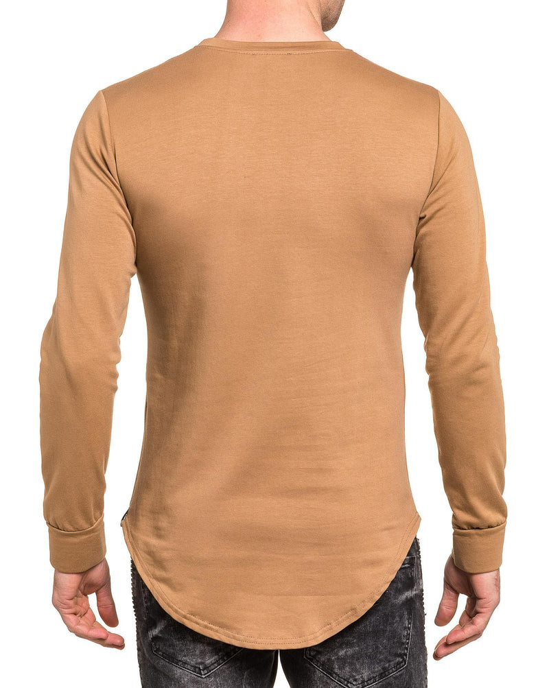 Sweat-shirt homme camel oversize