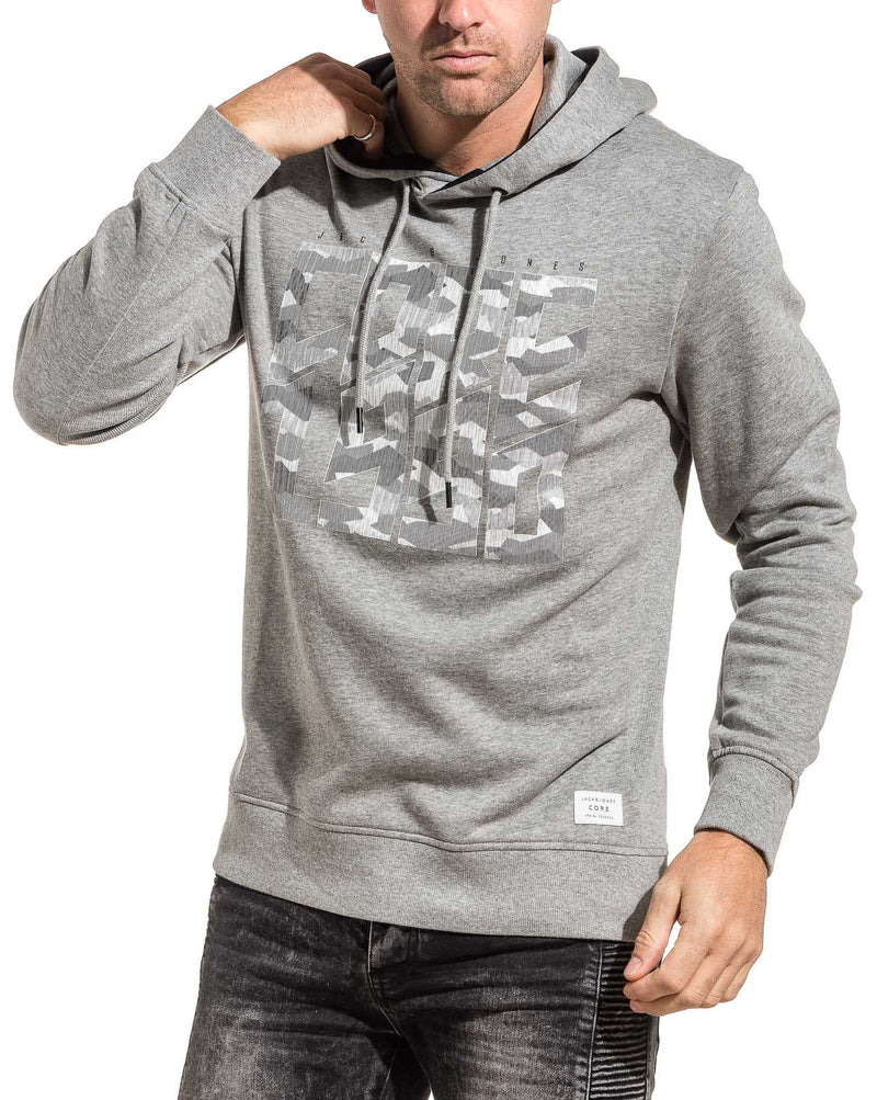 Sweat homme molleton gris clair