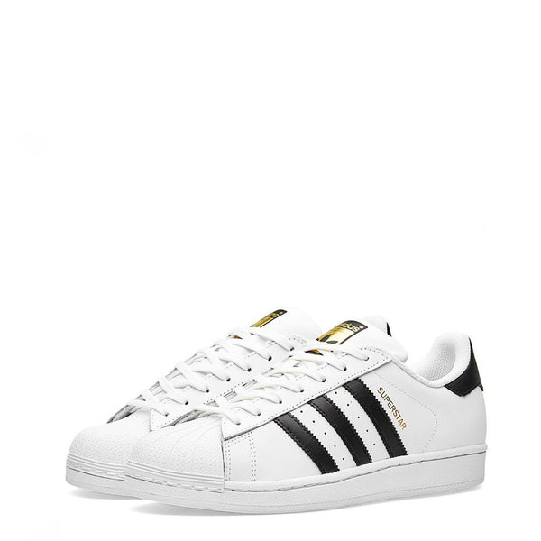 Sneakers blanches bandes noir Adidas - Superstar