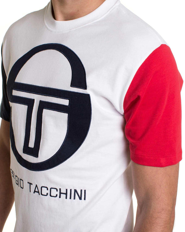 T-shirt tricolor homme manches courtes ICONA