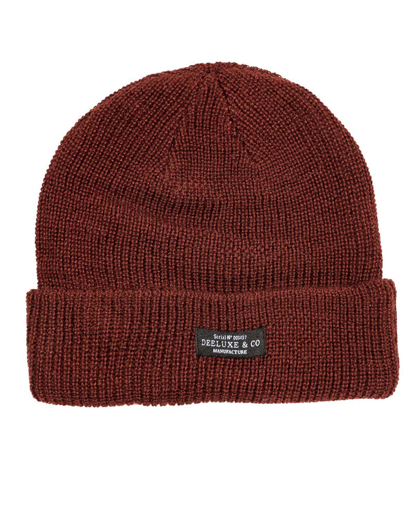 Bonnet homme coloré bordeau