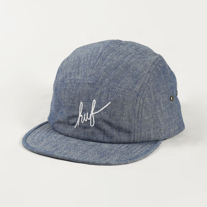 Crosshatch Chambray Script Cap