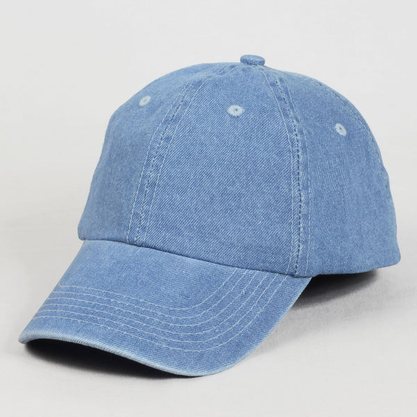 Stone Wash Blue Jean Baseball Cap