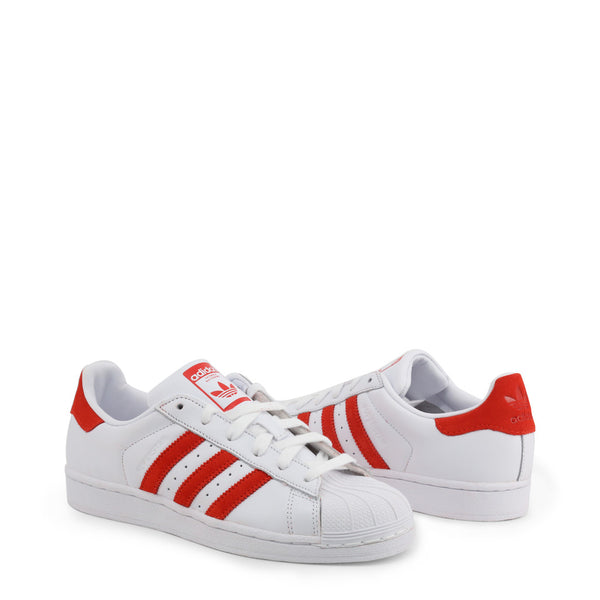 Basket blanche et bandes rouges Adidas - Superstar