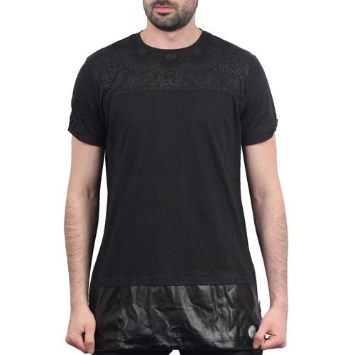 Black on Black Bandana Oversize Tee