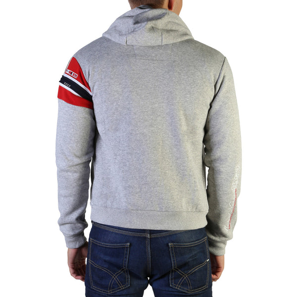 Sweat capuche zip gris clair Geographical Norway - Faponie100_man