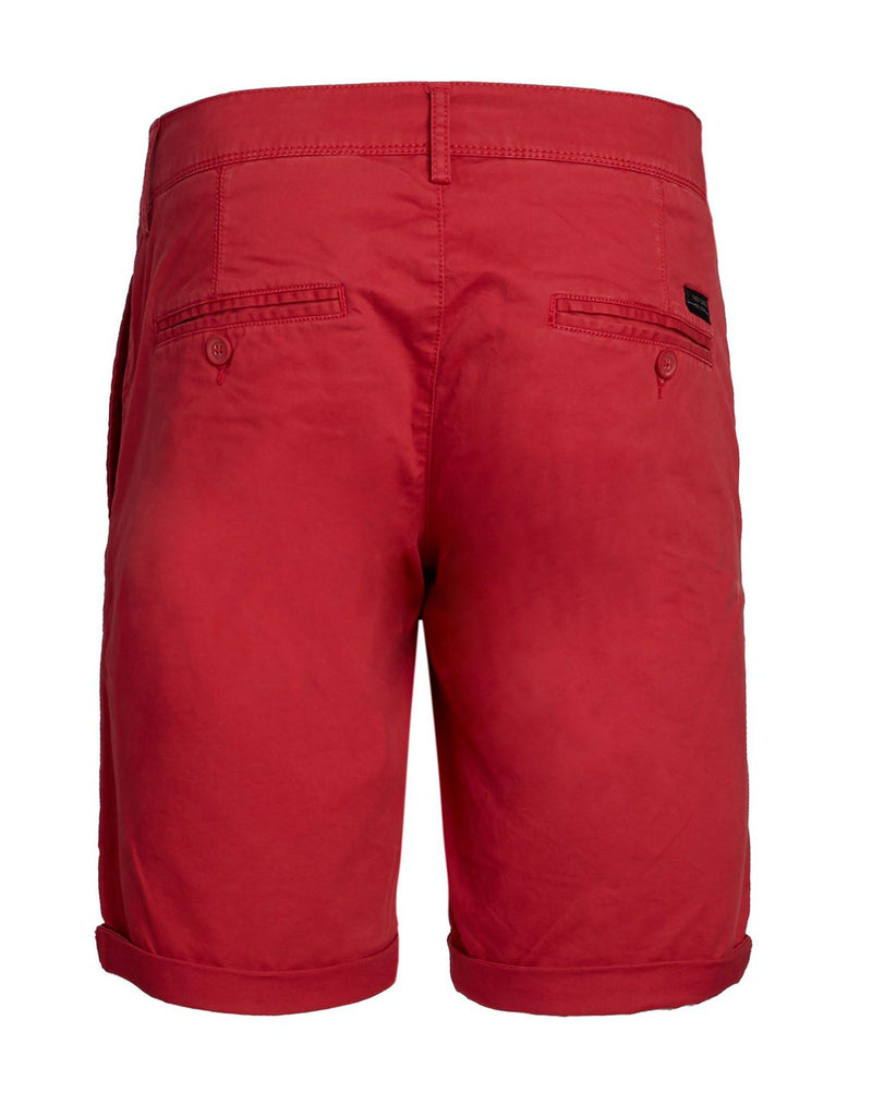 Short chino rouge pour homme