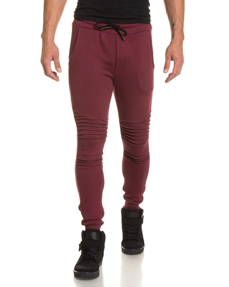 Pantalon jogging homme bordeau