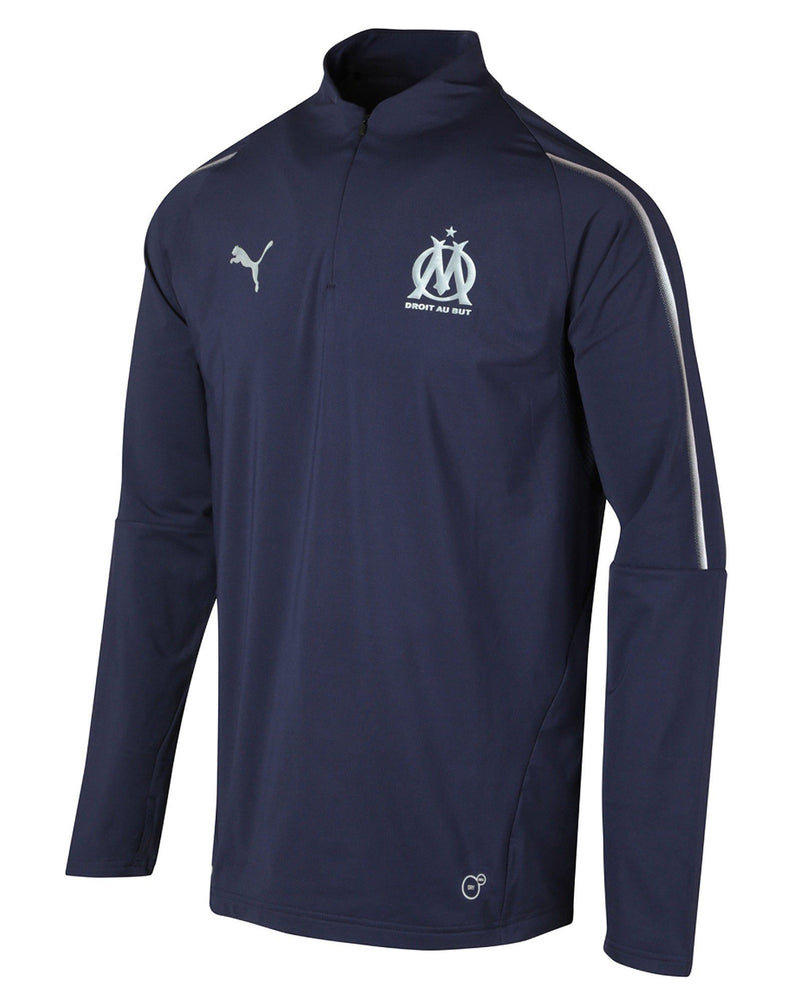 Sweat bleu navy logoté OM