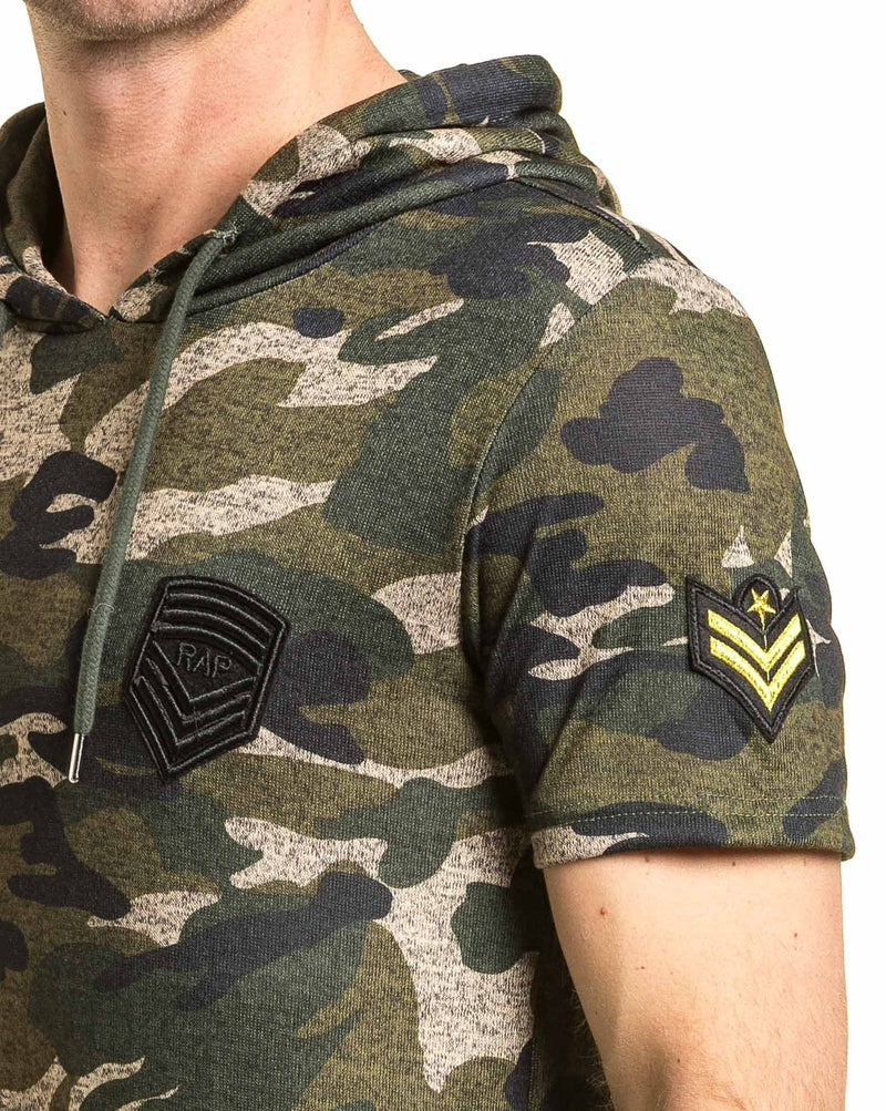 Tee-shirt homme camouflage oversize avec patchs