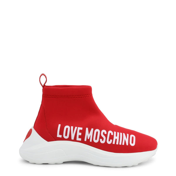Basket rouge femme Feel sensitive Love Moschino - JA15216G18IO