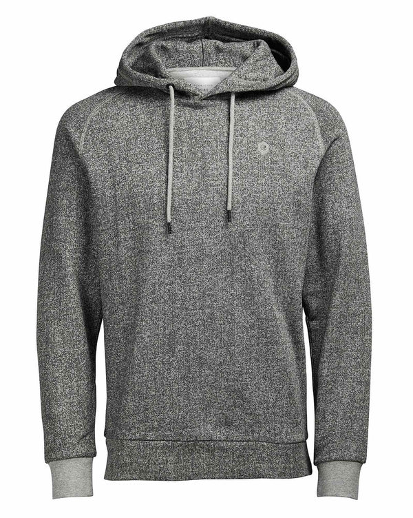 Sweat-shirt homme gris clair chiné à capuche