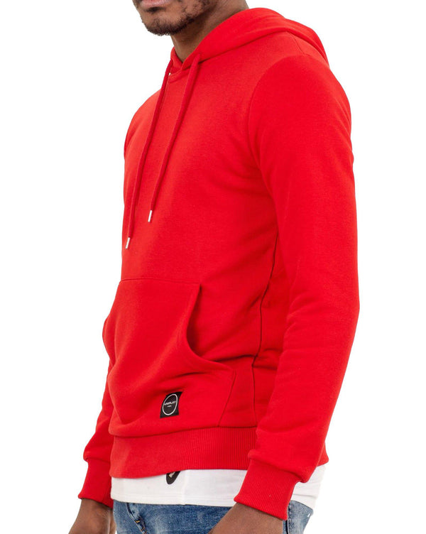 Sweat homme à capuche rouge