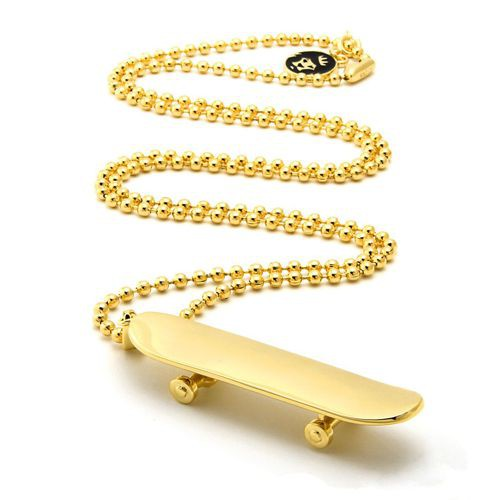 Solid Skateboard Necklace