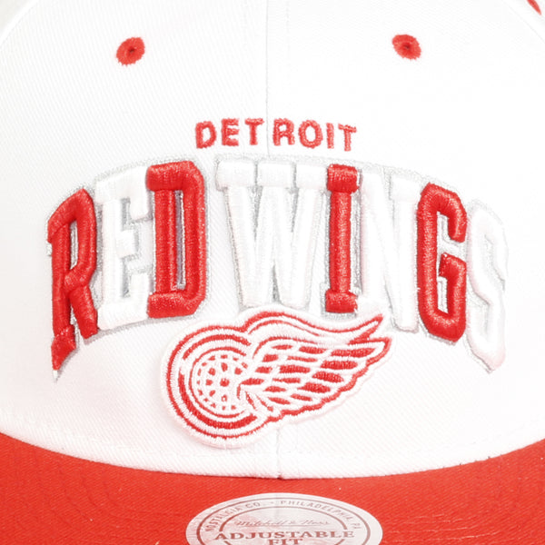 White Tri Pop Red Wings Cap