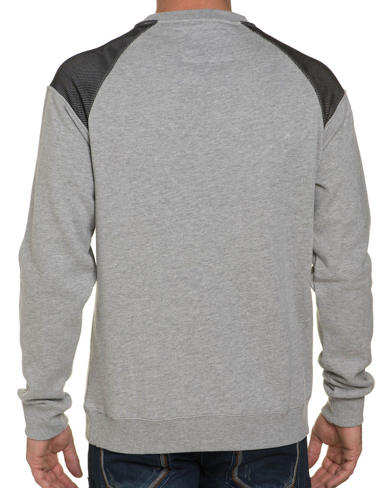 Sweat Gris Empiècements Tendances
