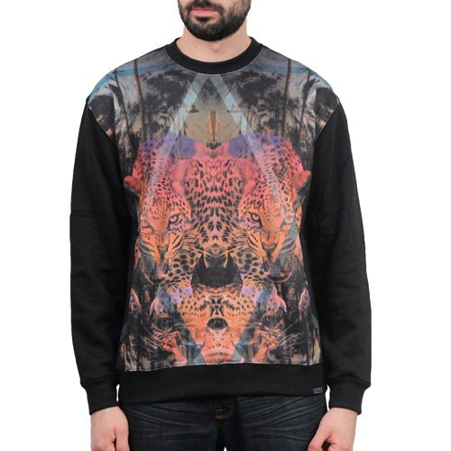 Lion Leopard Crewneck Sweater