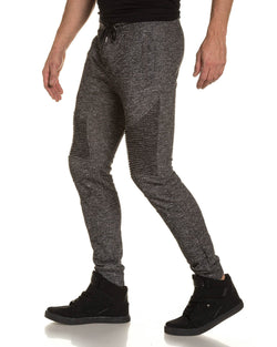 Pantalon jogging homme noir biker fashion