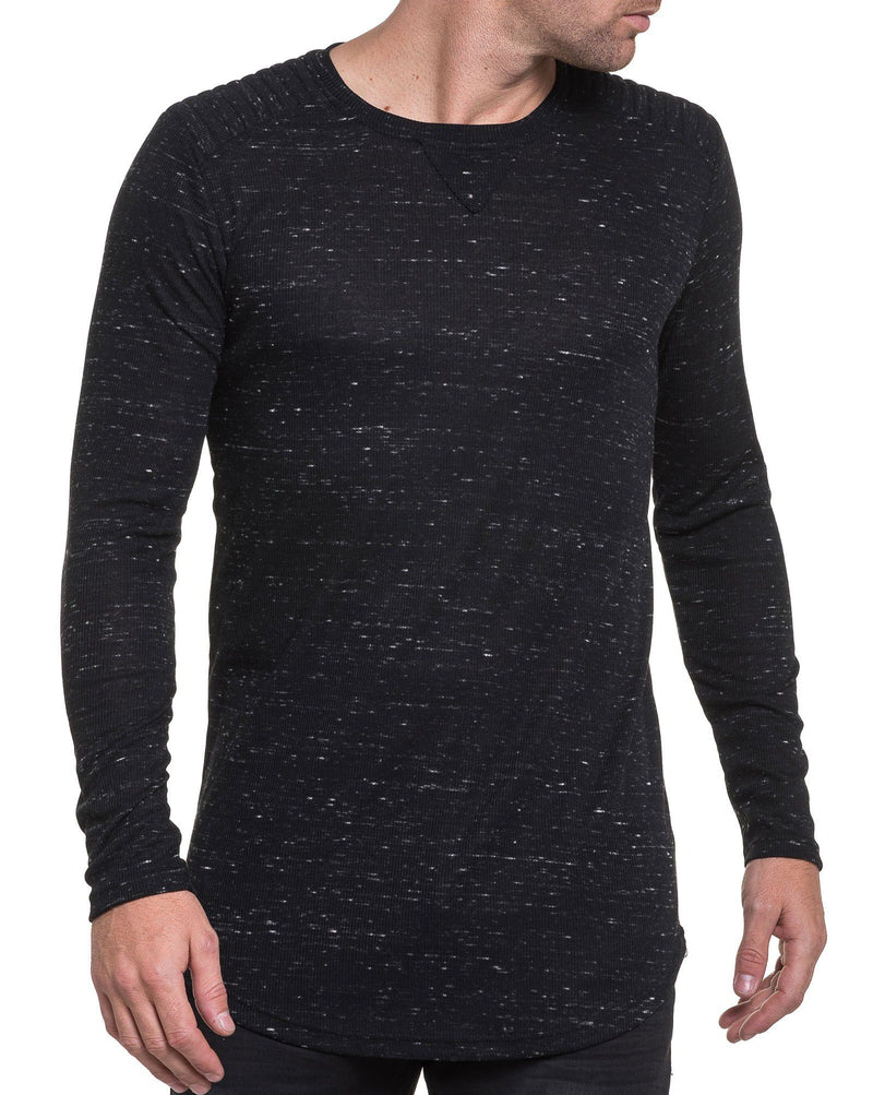 Pull fashion oversize noir fine maille
