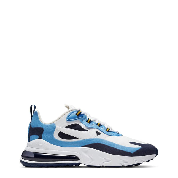 Chaussures sneakers basket blanc bleu Nike AirMax270React pour homme