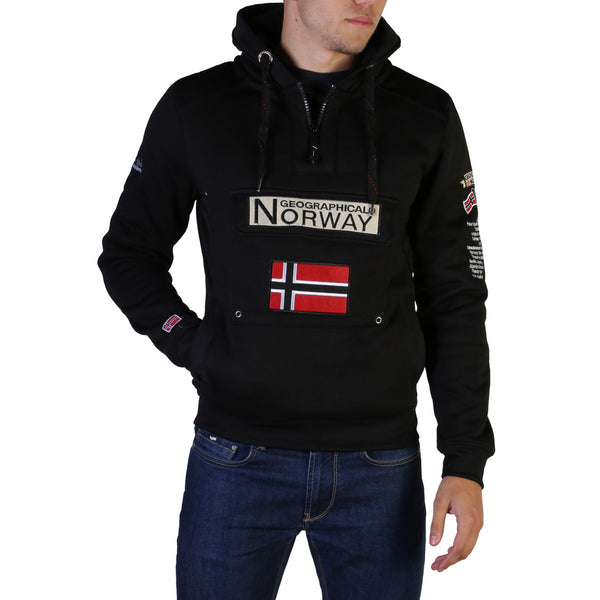 Sweat noir logo Geographical Norway - Gymclass007_man