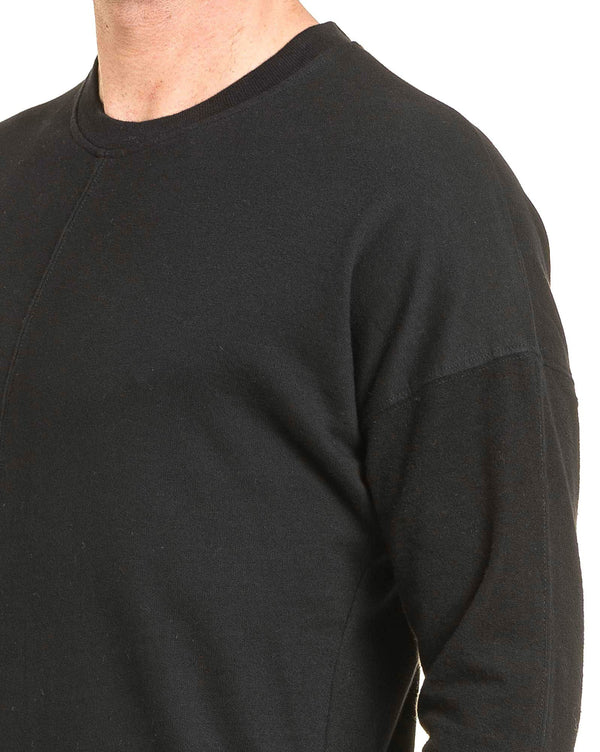 Sweat-shirt homme noir oversize