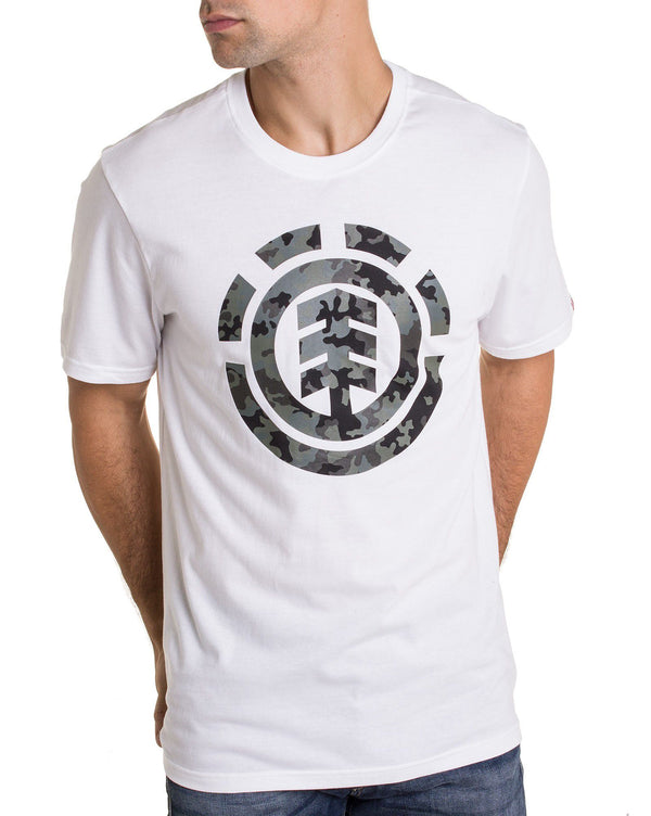 Tshirt Blanc homme BARK logo camouflage à manches courtes