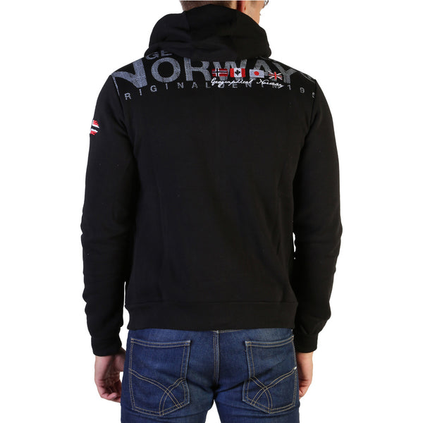 Sweat zippé à capuche noir Geographical Norway - Fespote100_man