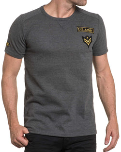 Tshirt homme gris fine maille fashion avec broderie