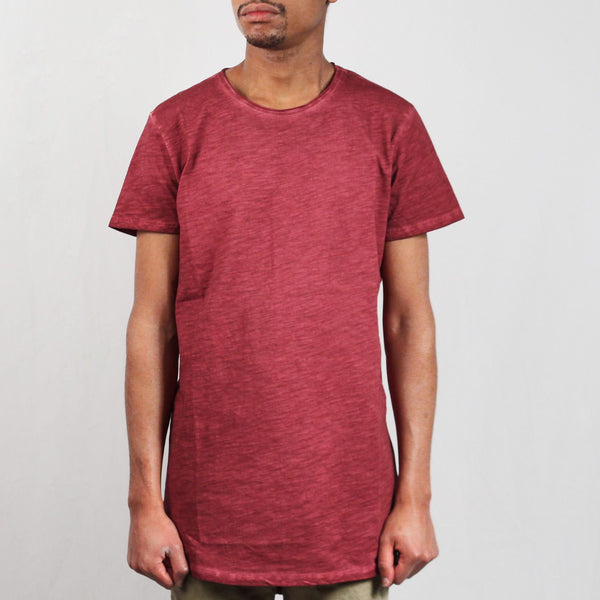 Long Back Shaped Spray Dye Tee