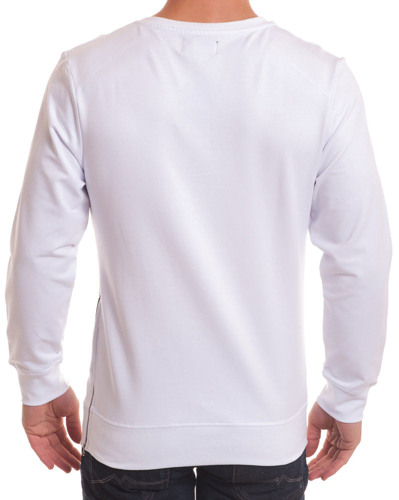 Sweat fashion imprimé blanc